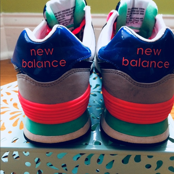 size 40 a69b0 19401 Multicolored New Balance 574 newbuck casual shoes